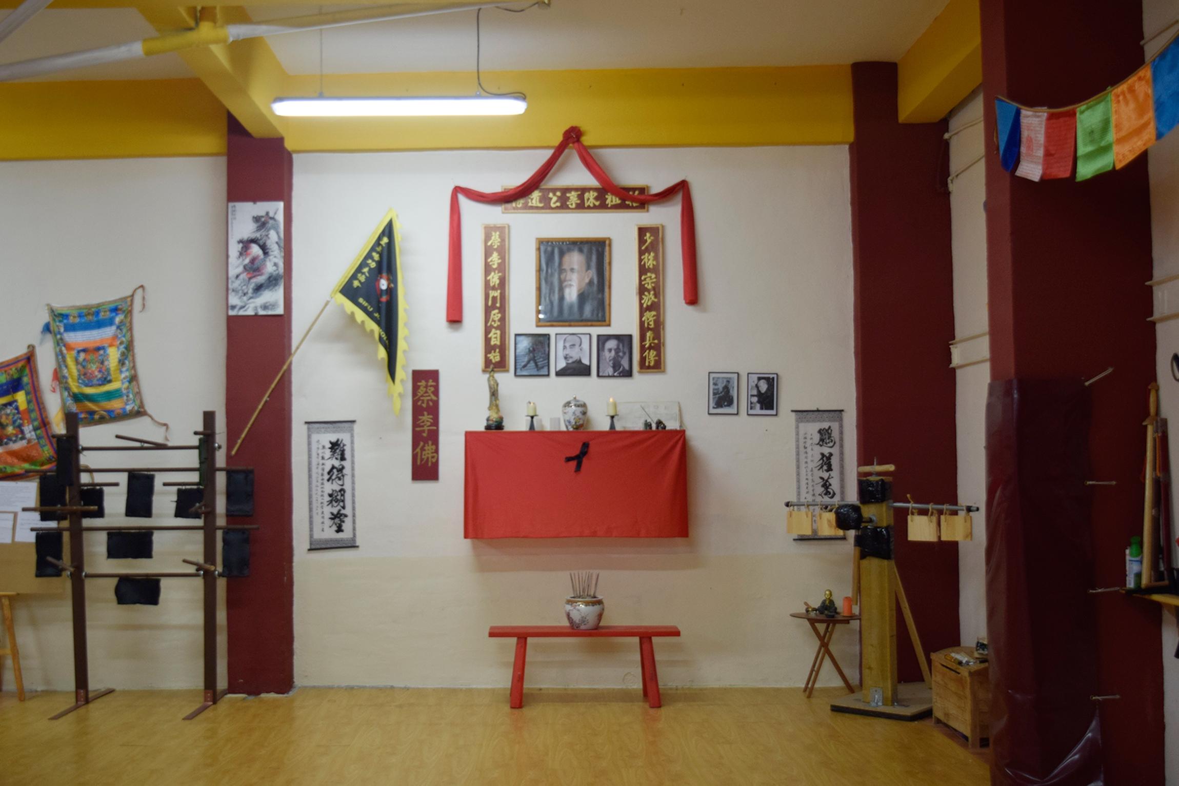Altar de Chan Heung y familia Chan