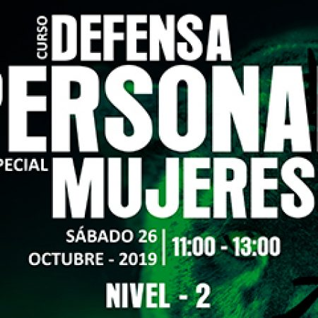 CURSO DE DEFENSA PERSONAL (MUJERES) NIVEL – 2