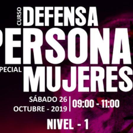 CURSO DE DEFENSA PERSONAL (MUJERES) NIVEL – 1